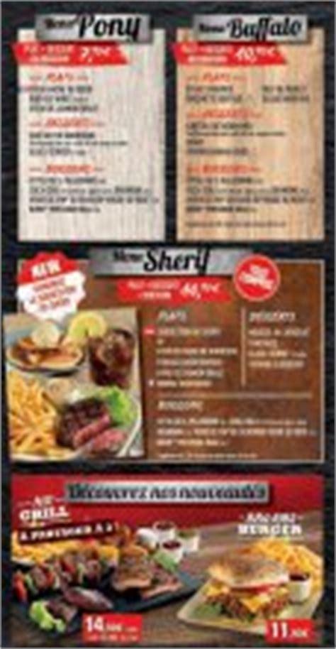 Buffalo Grill Villeneuve D Ascq by Buffalo Grill Menu Et Carte 331 Buffalo Grill En