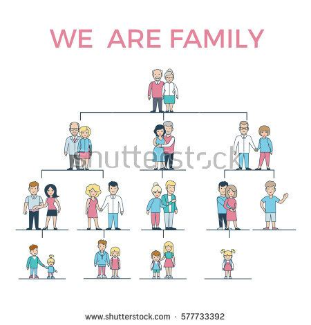 Linear Flat Family Tree Infographics Template Stock Vector 577830511 Shutterstock Linear Flat Family Tree Infographics