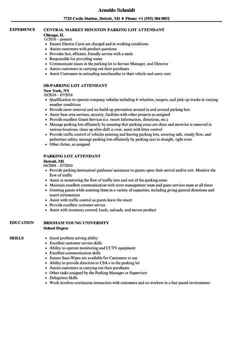Lot Attendant Sle Resume by Pool Bartender Resume Sles Velvet Sle Resume With Objective Statement