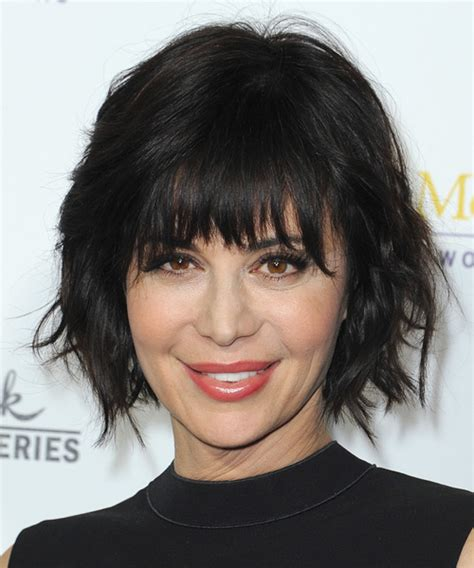 catherine bell short formal hair catherine bell medium straight casual hairstyle with