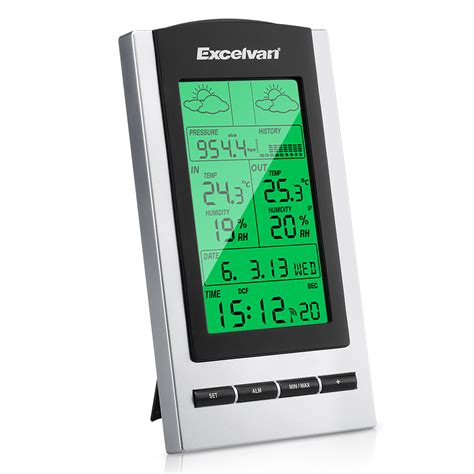 Lcd Wireless lcd wireless weather station thermometers humidity sensor clock indoor outdoor ebay
