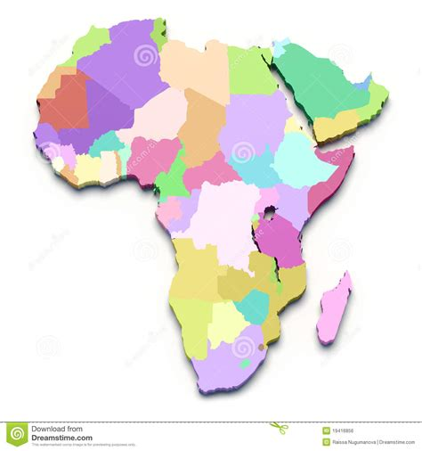 africa map in color africa color map stock illustration image of arabia