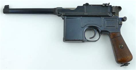 the broomhandle mauser weapon mauser c 96 broomhandle long barrel quot hash barrel quot bolo parker gun store