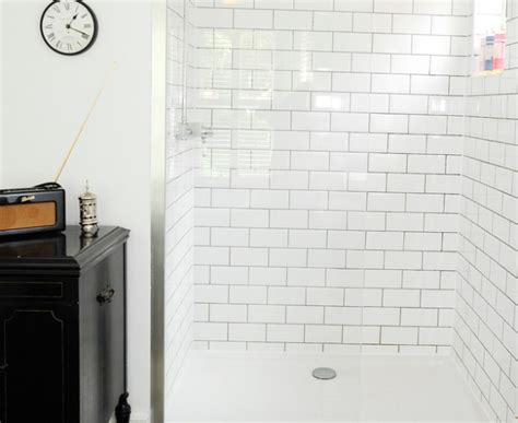 Modern Bathroom White Subway Tile Magnificent Tile In Bathroom Traditional With