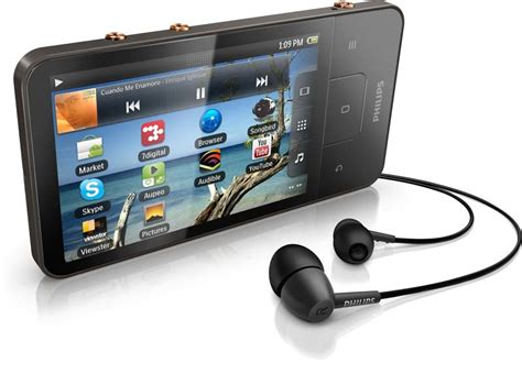 mp3 player for android philips android connect 8 gb touchscreen mp3 player mp3 players accessories