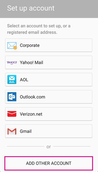 set up email in android email app office support set up email in android email app office support