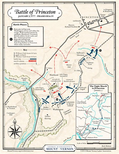 princeton map map battle of princeton phases iii and iv 183 george washington s mount vernon