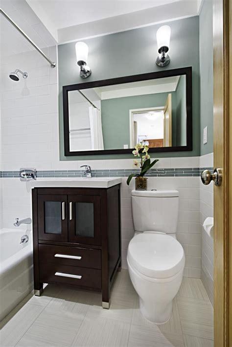 contemporary bathroom  brooklyn small white floor