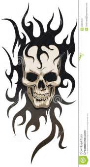 skull tribal tattoo stock vector image of skull metal