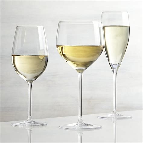 white wine vineyard white wine glasses crate and barrel