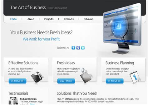 html5 css3 jquery website templates free 14 beautiful business html templates design freebies