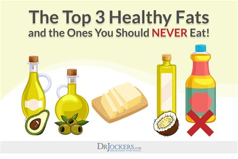 3 healthy fats top 3 healthy fats which fats to never eat drjockers