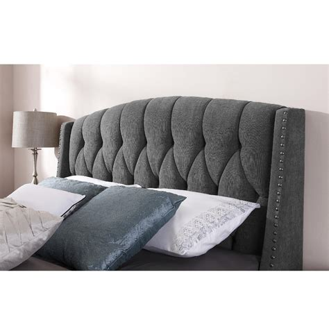 dorel signature sophia steel grey headboard available in