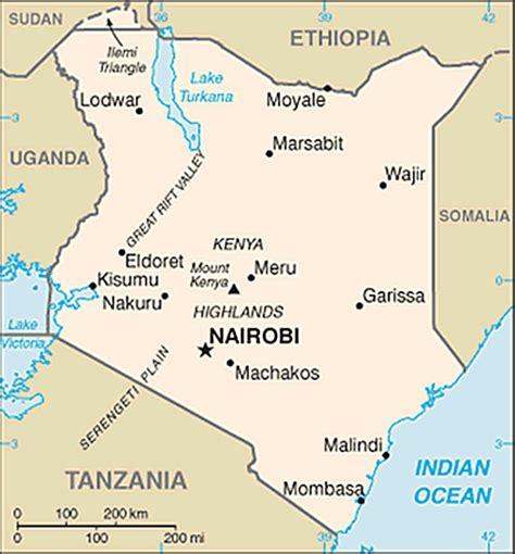 africa map kenya map of kenya