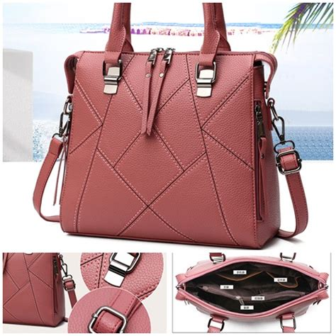 Promo B4380 Darkpink Tas Fashion Elegan Import jual b140 pink tas fashion import grosirimpor