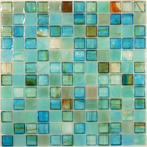 Design For Turquoise Glass Tile Ideas Hirsch 1 X 1 Blue Glass Square Tile Glossy Jm0012