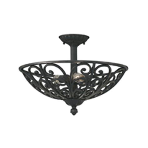 wrought iron flush mount lighting designers fountain florence 3 light natural iron ceiling
