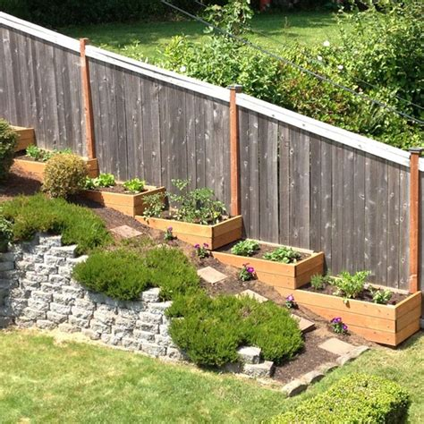 small sloped backyard landscaping triyae deck ideas for steep backyard various