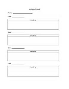 Anecdotal Template by Search Results For Log Notes Template Printable