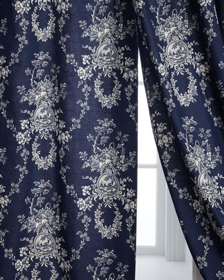 Green Toile Curtains Sherry Home Two 96 Quot L Country Toile Curtains