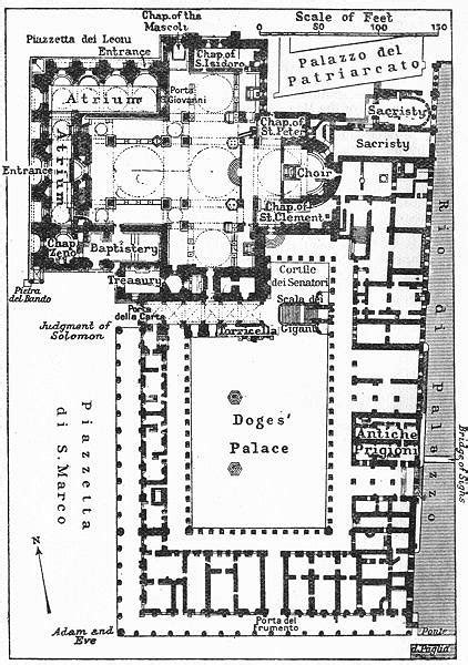 st palace floor plan st s and the doges palace floor plan venice 1953