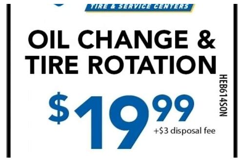 valvoline coupons oil change and tire rotation