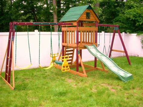 swing sets with installation swing set installation nj playset installer cedar summit