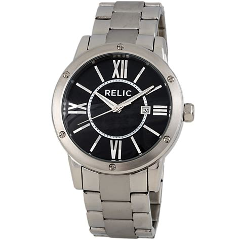 Relic By Fossil relic by fossil payton zr11999 stainless steel black quartz s