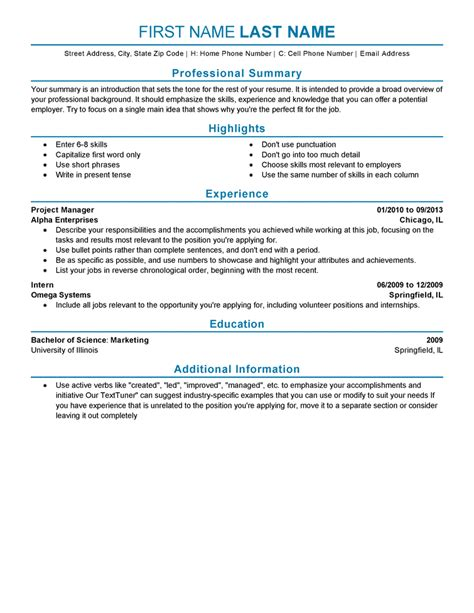 sle resume templates for experienced it professionals experienced resume templates to impress any employer livecareer