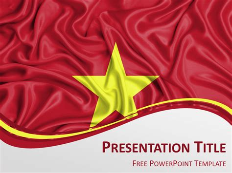 Free Powerpoint Template With Flag Of Vietnam Background China Ppt Template Free