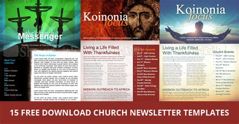 free publisher templates newsletter 15 free church newsletter templates ms word publisher