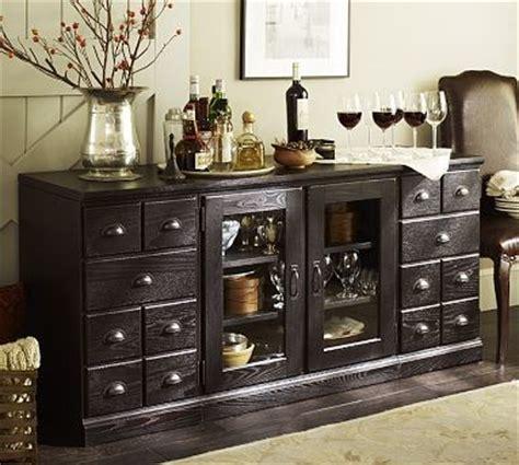 printer s large buffet artisanal black stain traditional