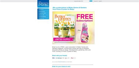 Better Homes Sweepstakes - purex better homes gardens sweepstakes