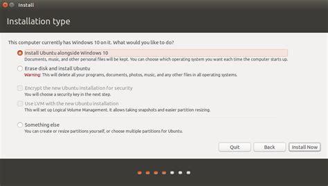 install windows 10 next to ubuntu how to install ubuntu linux alongside windows 10 standard