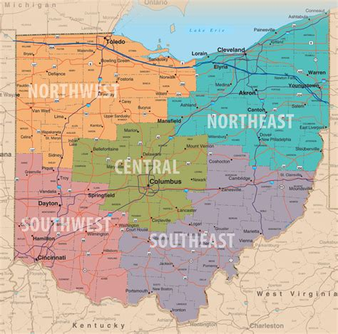 a map of ohio maps update 25601669 ohio tourist attractions map the