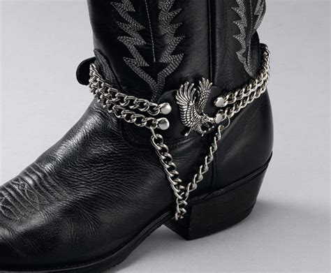 boot chains leather boot chains