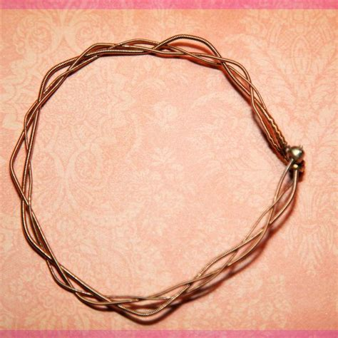 guitar jewelry how to make 43 best images about guitar string jewelry on