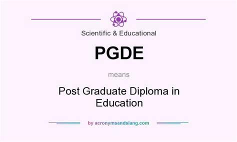 Post Graduate Diploma Vs Mba by Pgde Post Graduate Diploma In Education In Scientific