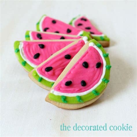 Summer Cookie Decorating Ideas by Watermelon Decorated Cookies For Summer