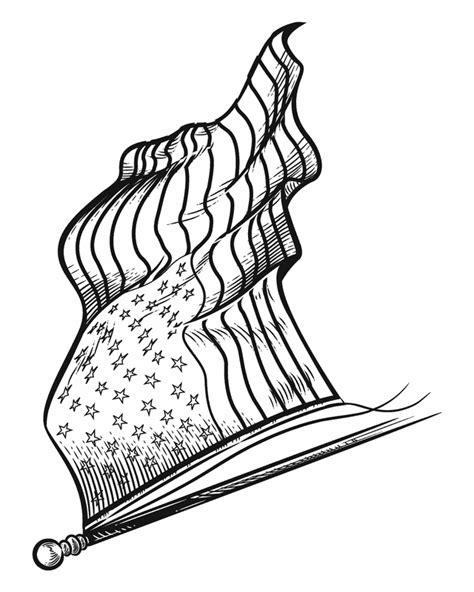 american flag clip art coloring page waving american flag drawing cliparts co