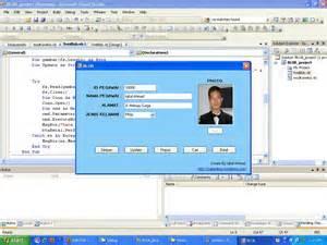 source code aplikasi cara membuat form berada di tengah membuat perintah insert edit hapus dan cari file image