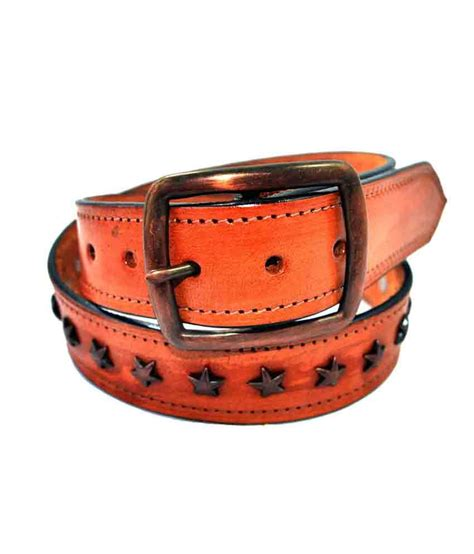 saiva western style leather belt crafted color