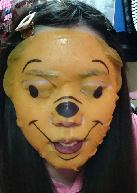 winnie  pooh face mask