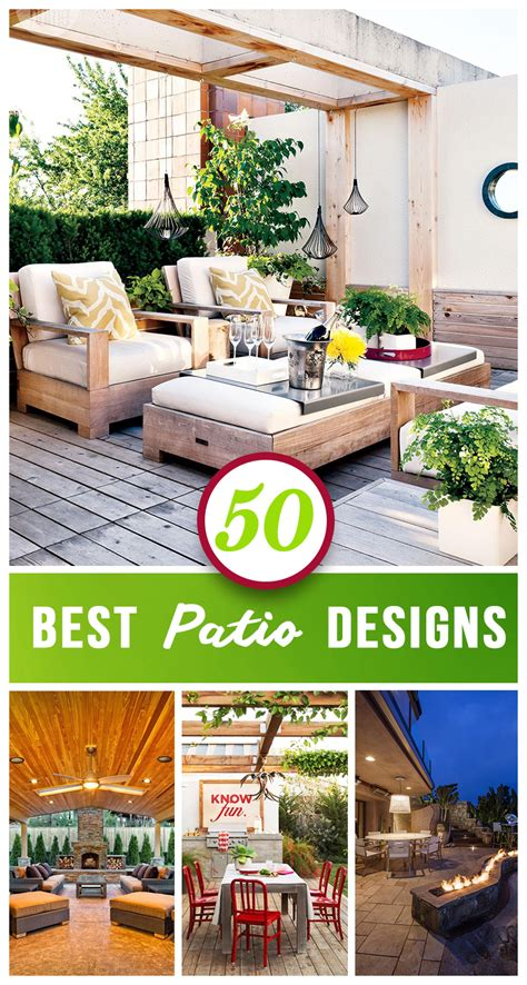 Best Patio Designs 50 Best Patio Ideas For Design Inspiration For 2018