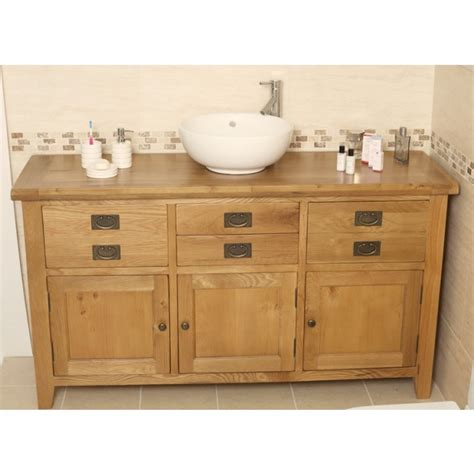 rustic bathroom vanity units valencia rustic oak large bathroom vanity unit best