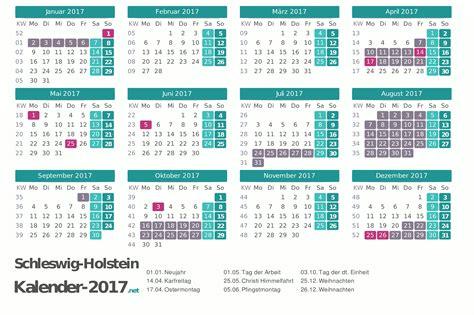 Kalender 2018 Mit Feiertagen Schleswig Holstein Ferien Schleswig Holstein 2017 Ferienkalender 220 Bersicht