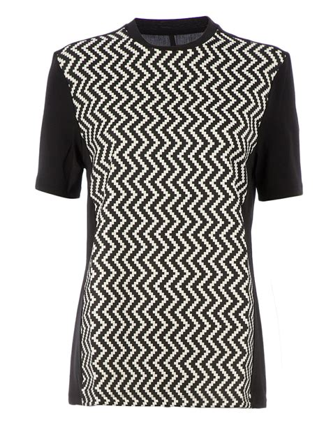 zig zag pattern shirt lyst neil barrett zig zag pattern t shirt in black