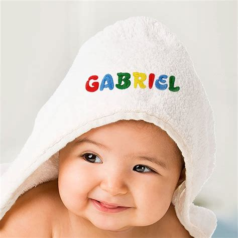 embroidered infant hooded towel giftsforyounow