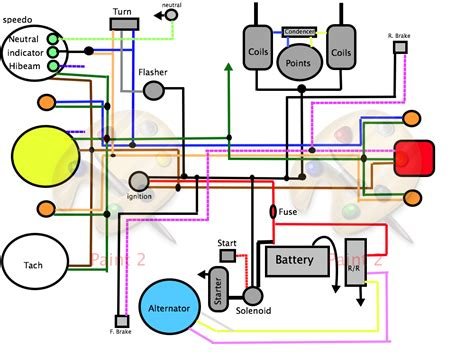 best starter motor connection diagram images electrical