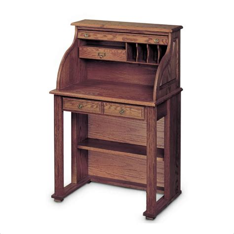 haugen home solid oak roll top vintage scholars desk ebay